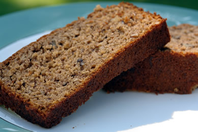 Gluten-Free Banana Bread (Variation) with Chia Seed and Whey Protein