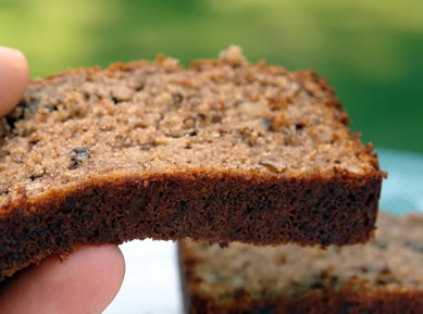 Gluten Free Banana Bread (Variation) with Chia Seed and Whey Protein
